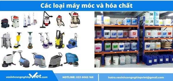 Máy móc , thiết bị, hóa chất sử dụng