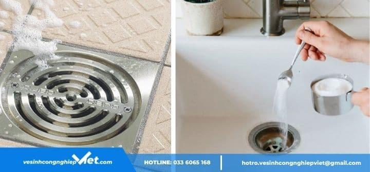 Dùng bột thông cống khắc phục nhà vệ sinh có mùi cống
