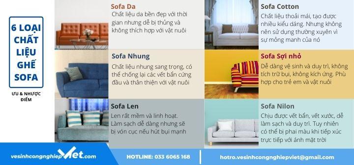 Chất liệu ghế sofa ưu và nhược điểm