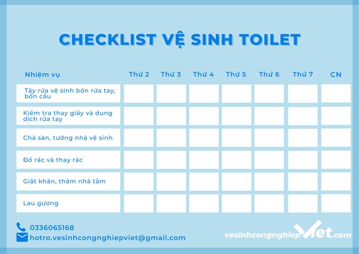 Checklist vệ sinh toilet