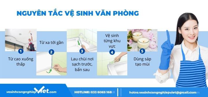 nguyên tắc vệ sinh văn phòng