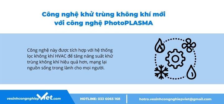 Khử trùng không khí bằng công nghệ PhotoPlasma