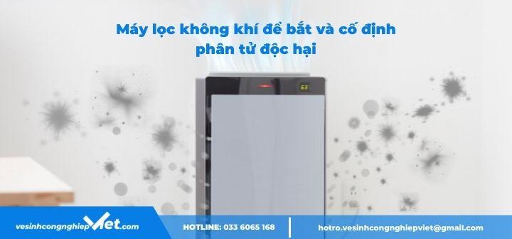 Khử trùng không khí bằng máy lọc khí